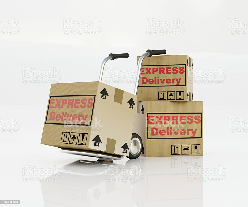 Express delivery cardboard royalty-free stock photo