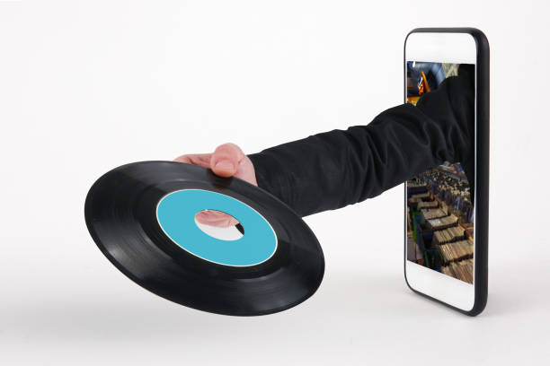 Express Delivery Music Vinyl - foto stock