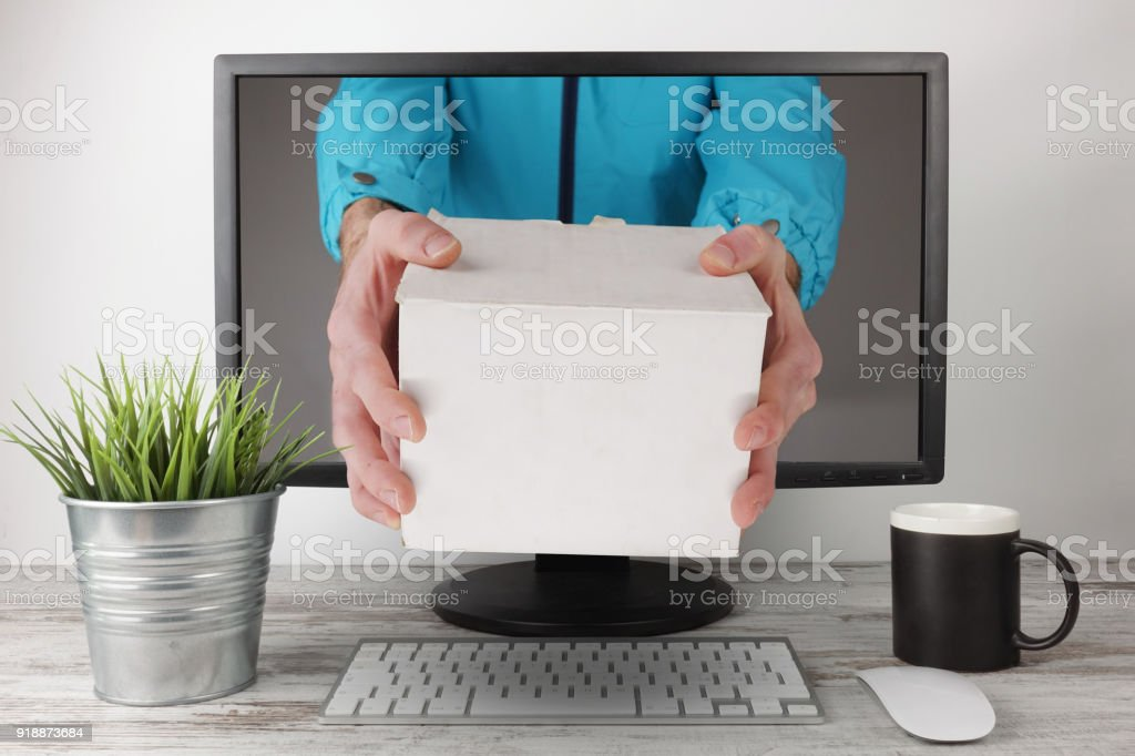 Express Delivery white package - foto stock
