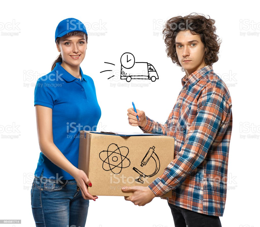 Express delivery. With elements of infographics. royalty-free stock photo