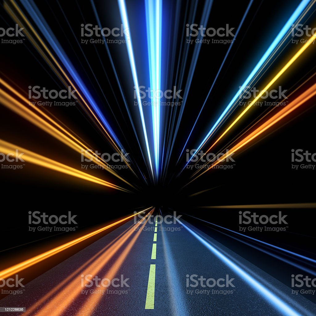 Express road. High speed royalty-free stock photo