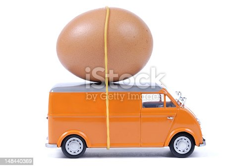 a van with an egg,ready to delivery, you can paint any logos or name on the side of the van, as you will.