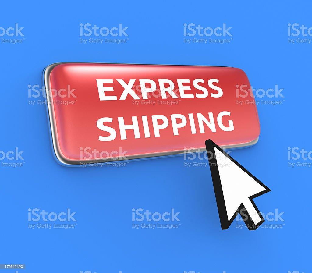 Express Shipping Button XL stock photo