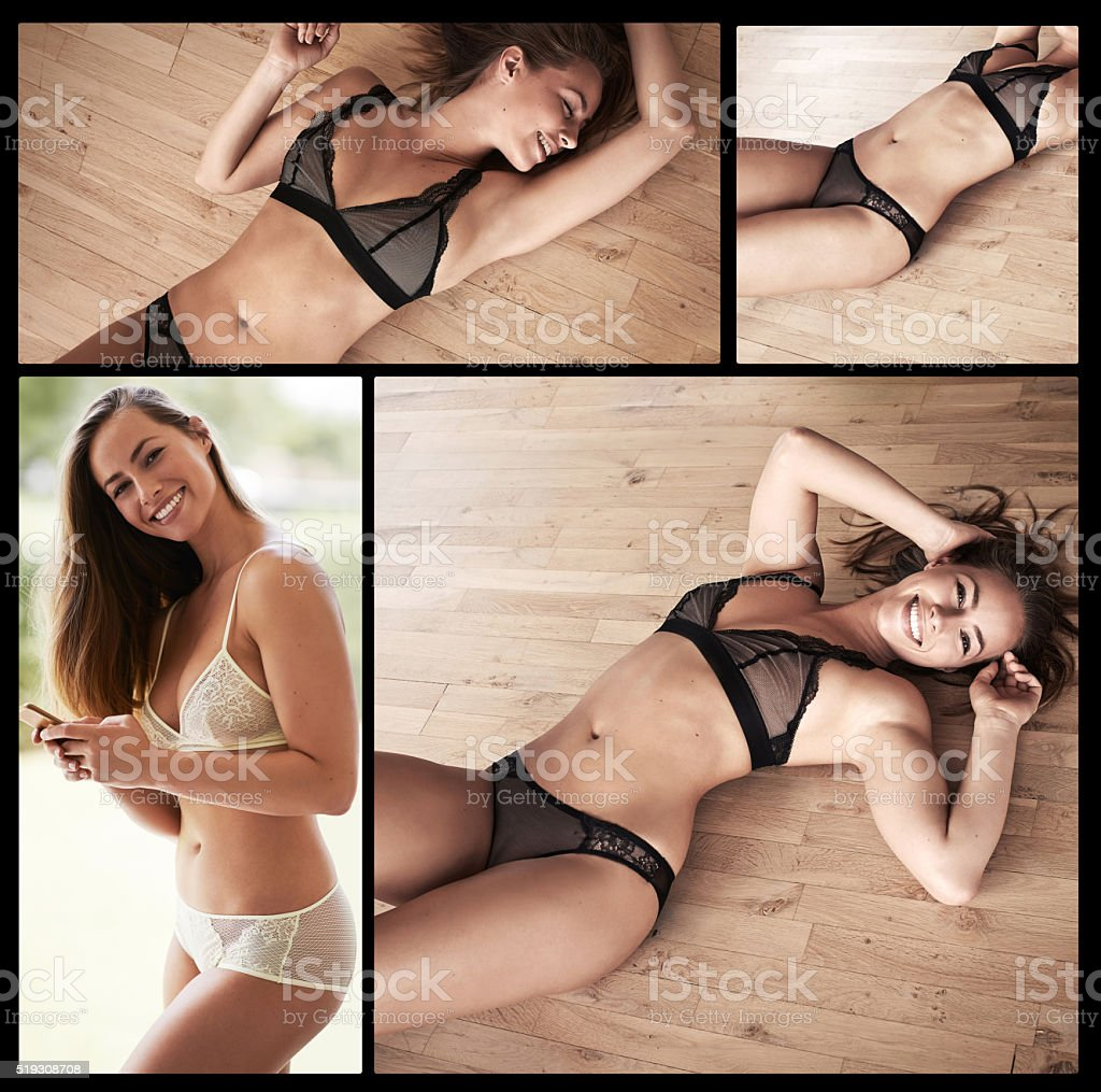 Express your femininity in some sexy lingerie stock photo