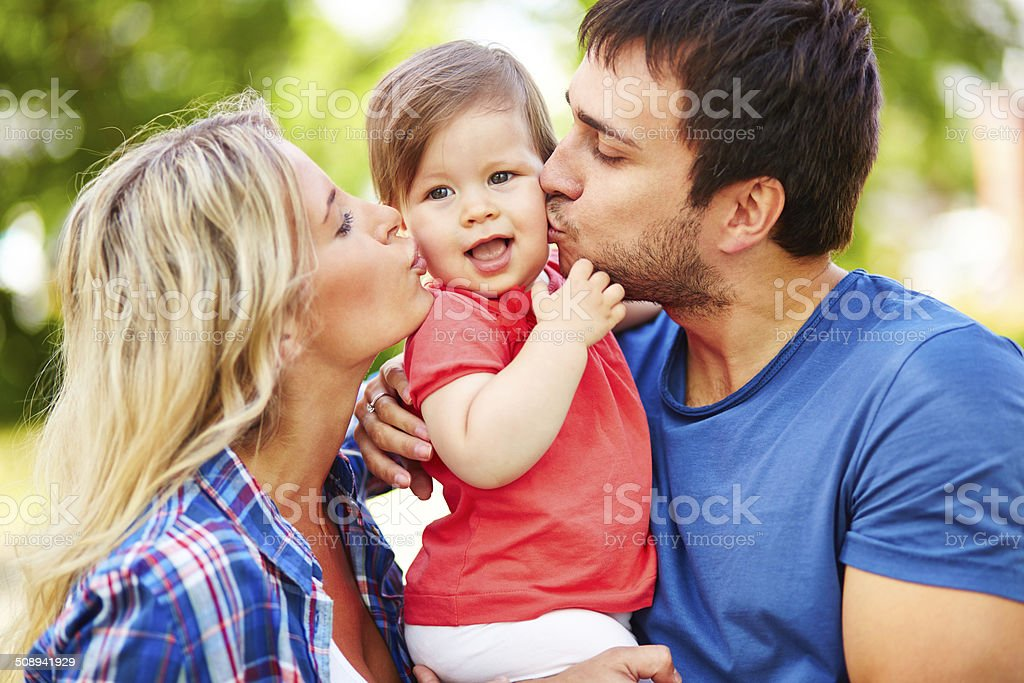 Expressing affection stock photo