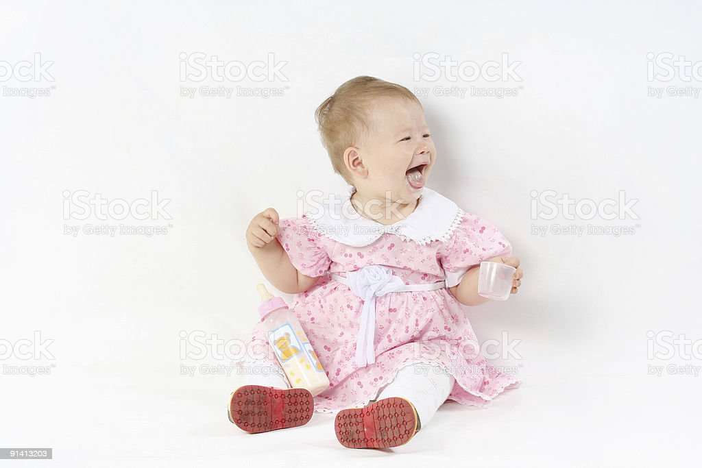 expressing  baby royalty-free stock photo