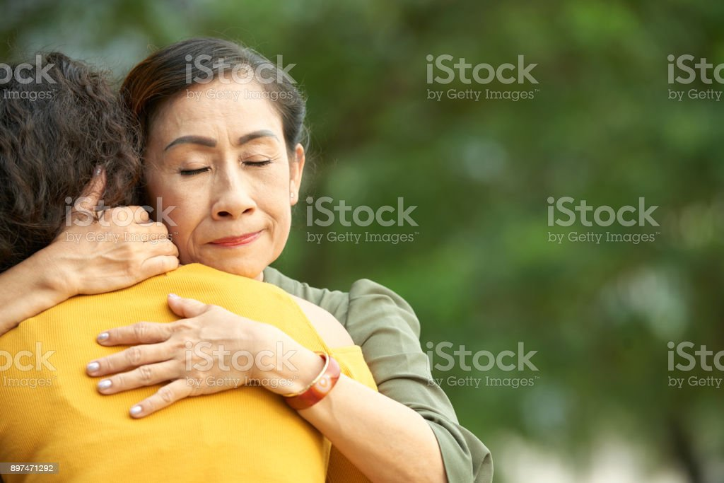 Expressing Love to Daughter stock photo