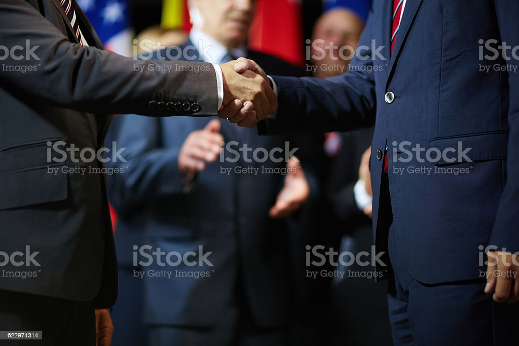 Expressing trust and respect stock photo