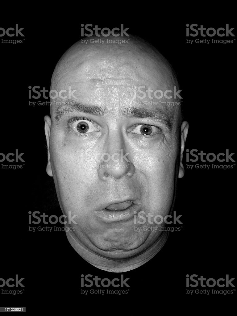 Expression: Duh royalty-free stock photo