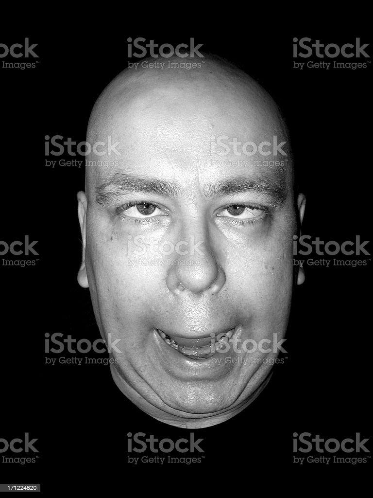 Expression: Idiot royalty-free stock photo