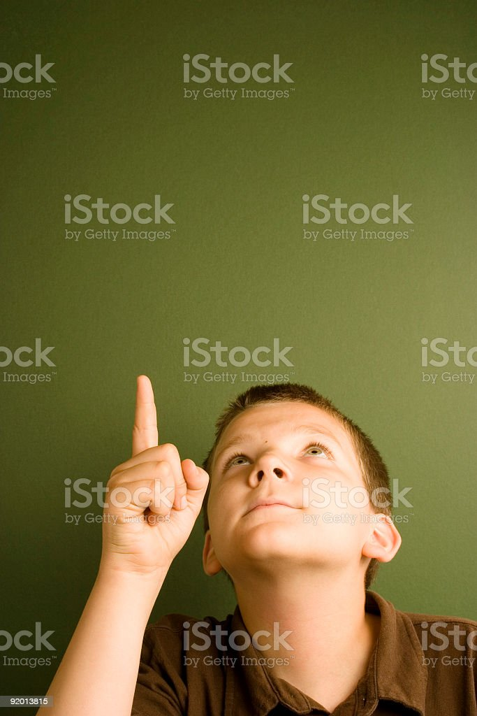 Expression Series - Pointing royalty-free stock photo