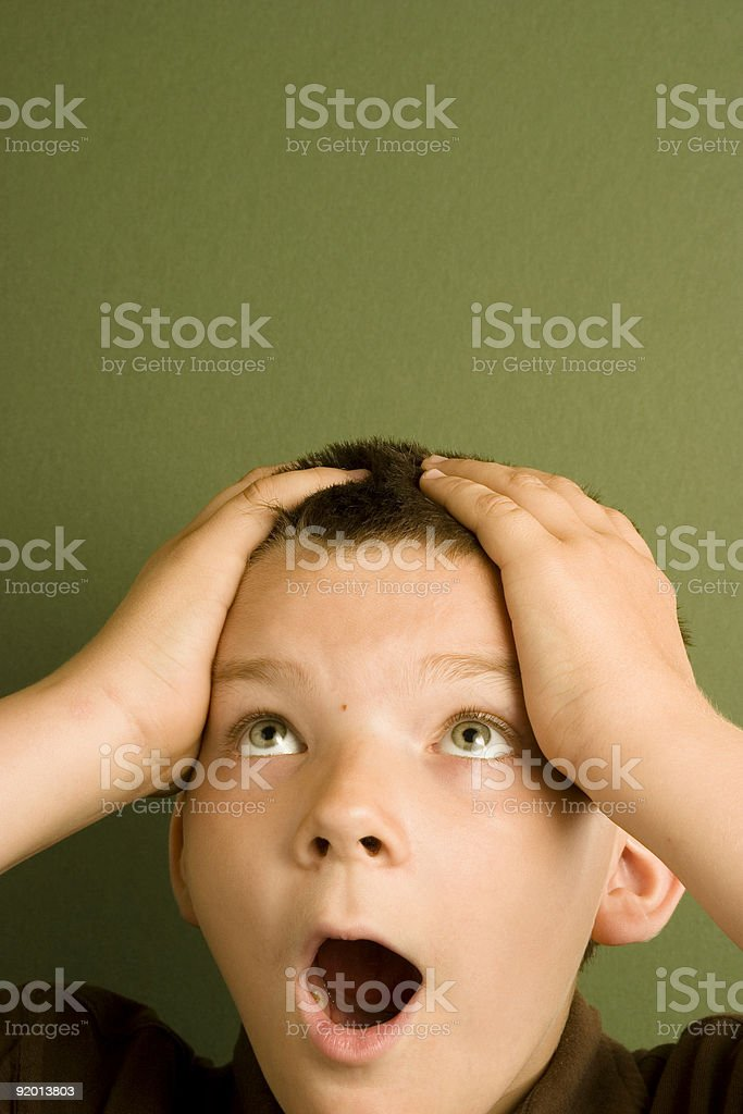 Expression Series - Shock royalty-free stock photo