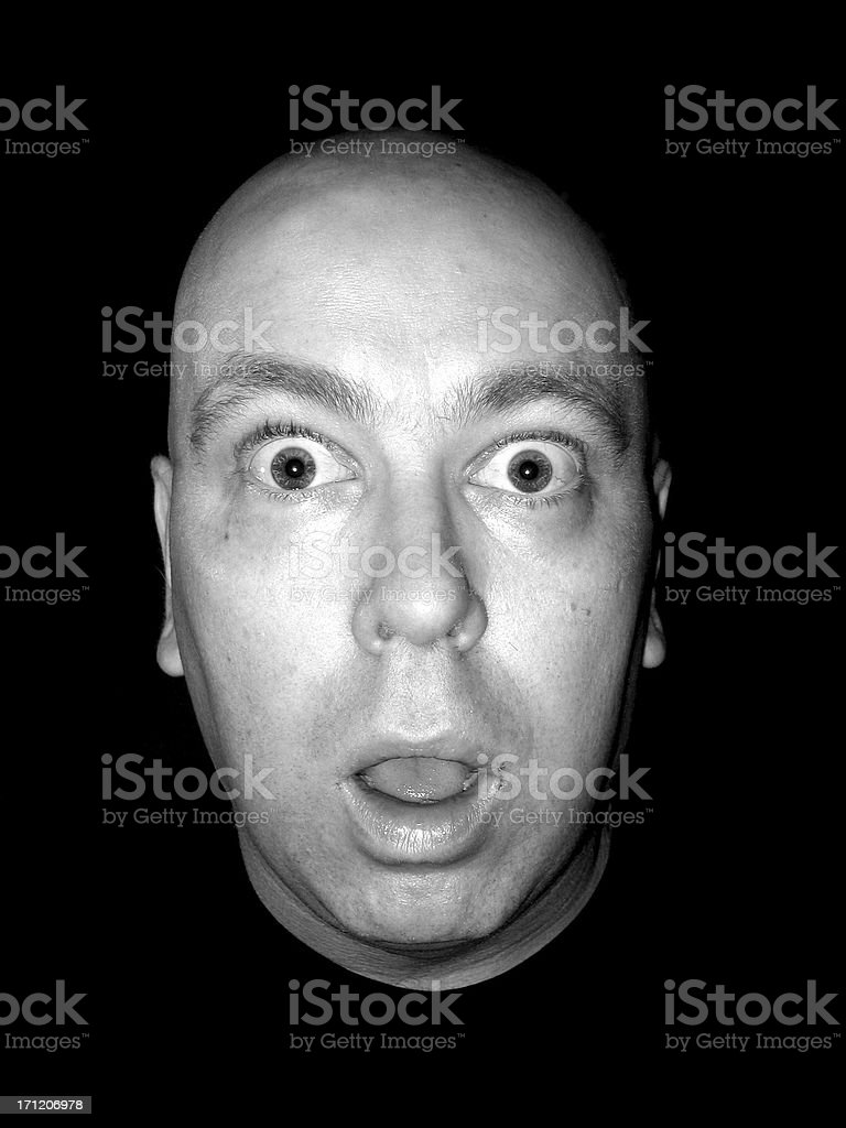 Expression: Shock royalty-free stock photo