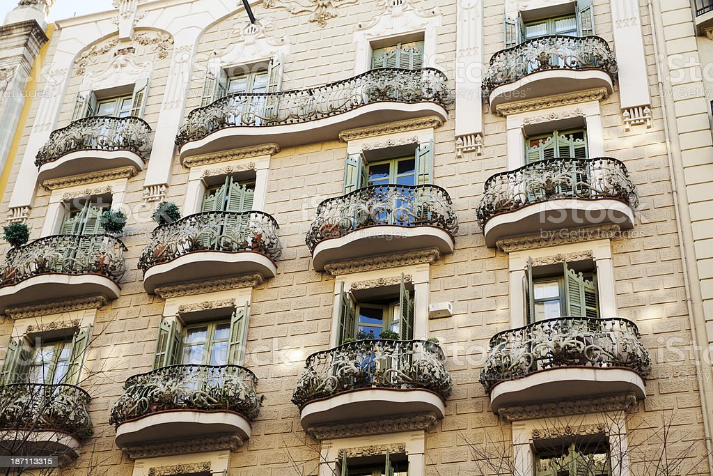 Expressionistic balconies stock photo