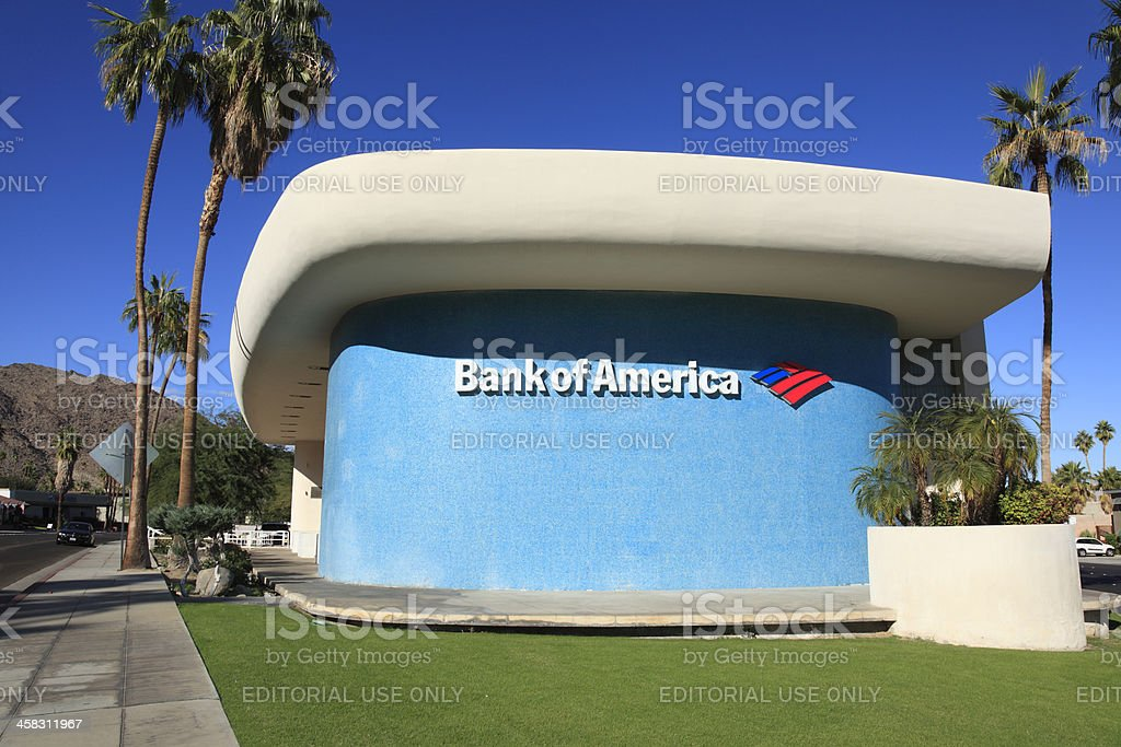 Expressionistic Modern Architecture Built in 1959 stock photo