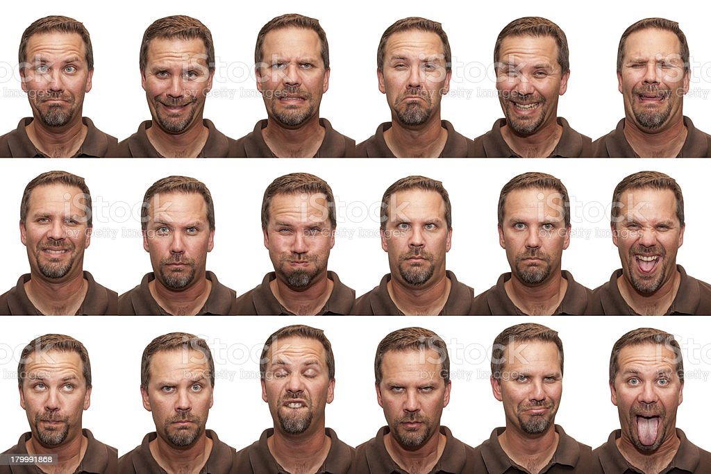 Expressions - Middle Aged Man stock photo