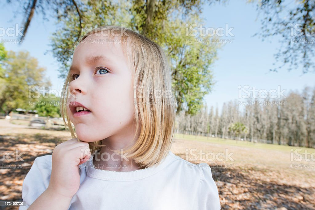 Expressive Blond Girl royalty-free stock photo