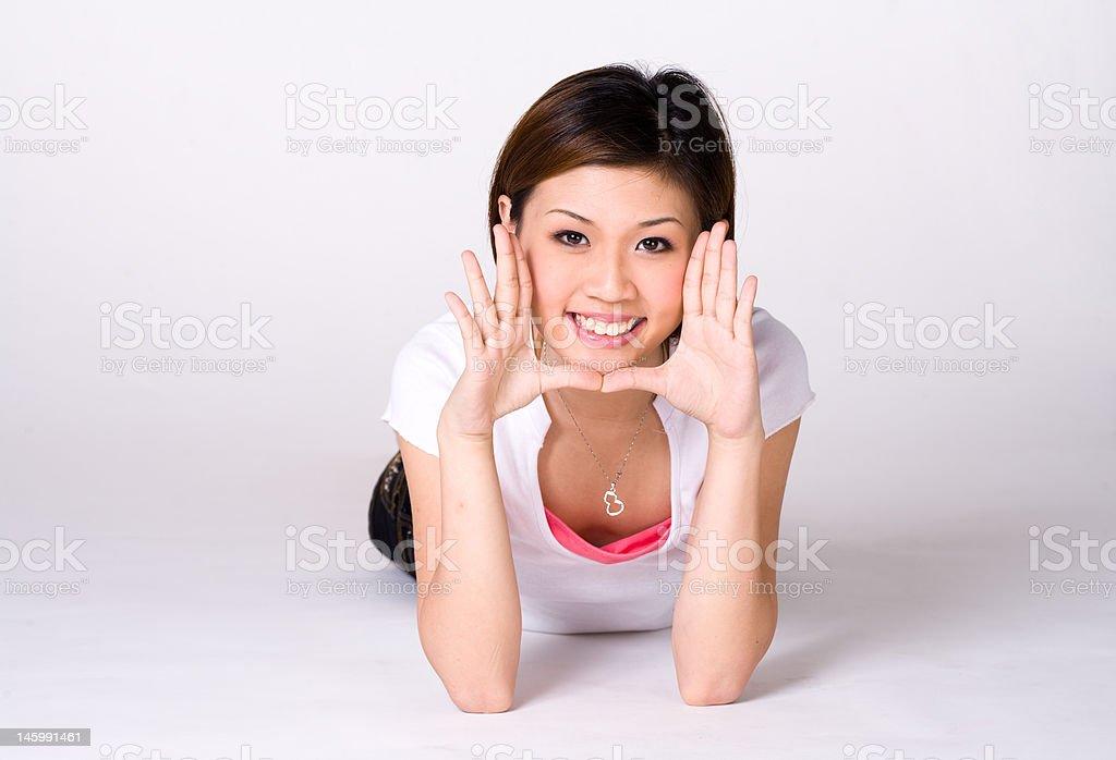 expressive girl stock photo