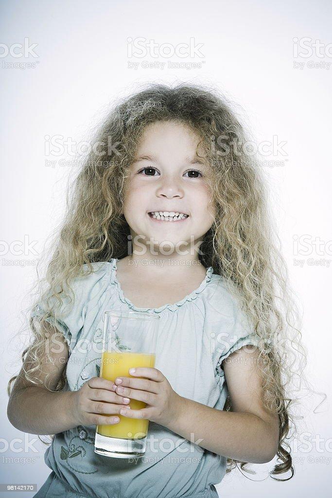 Expressive Kids and orange juice royalty-free stock photo
