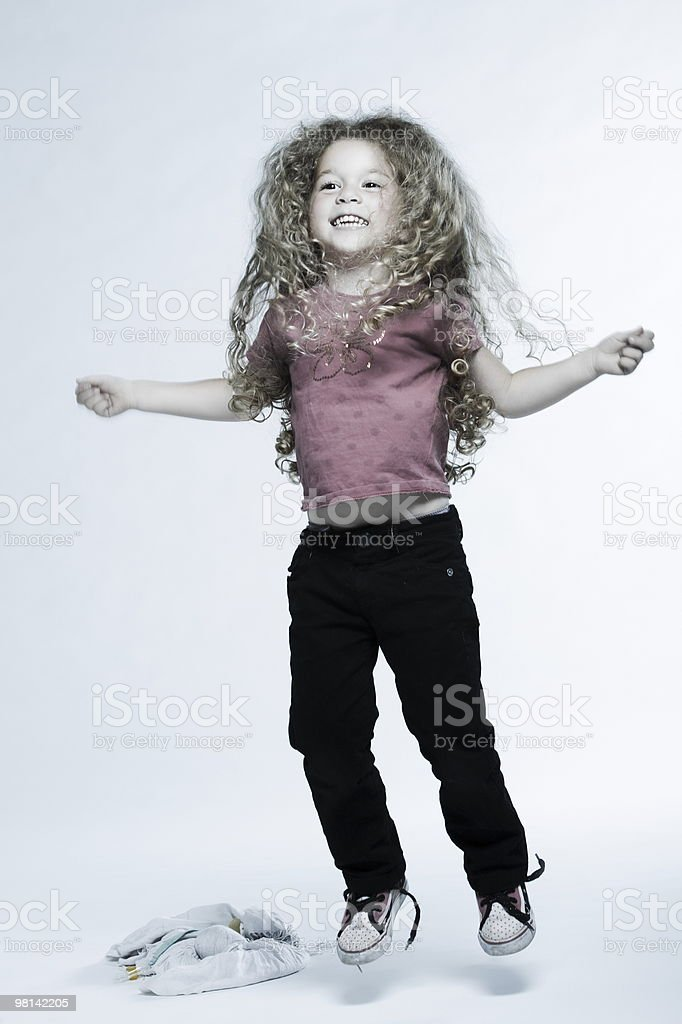 Expressive Kids jumping royalty-free stock photo