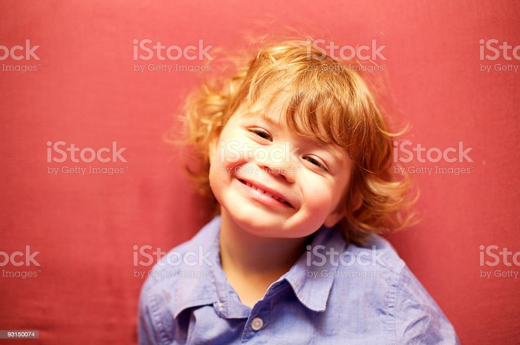expressive little boy stock photo