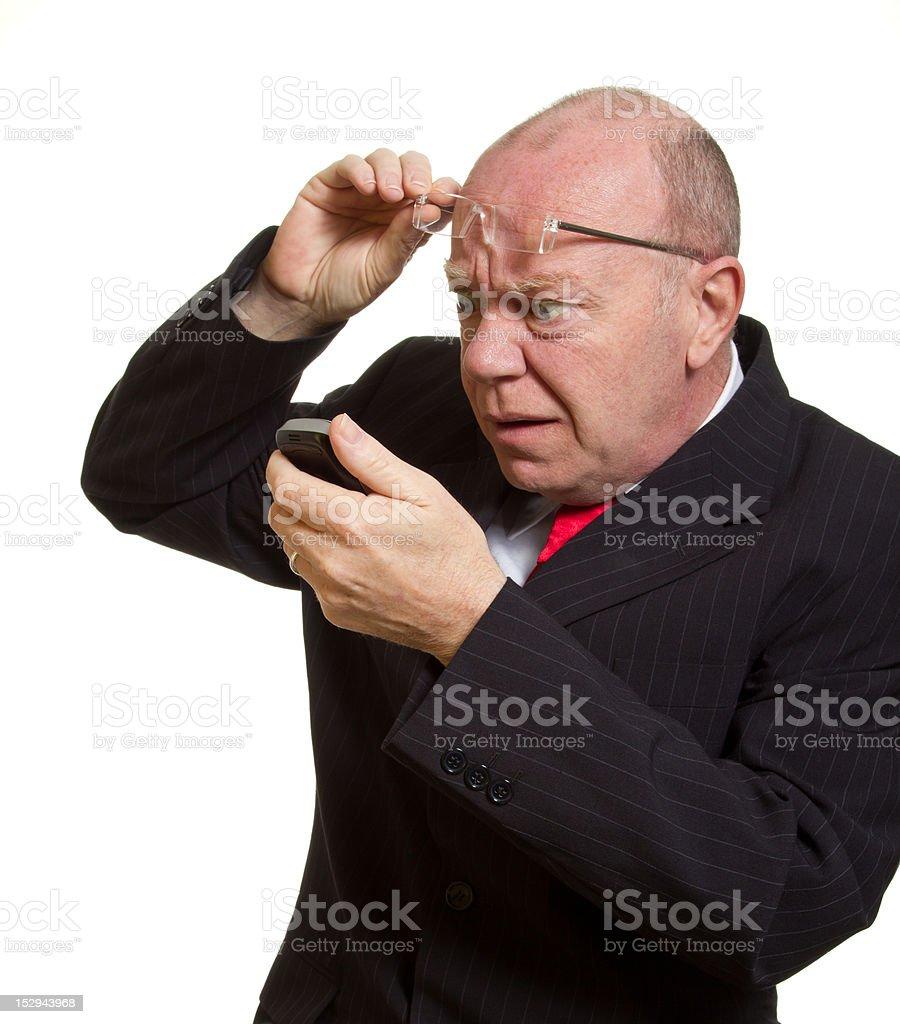 Expressive senior businessman royalty-free stock photo