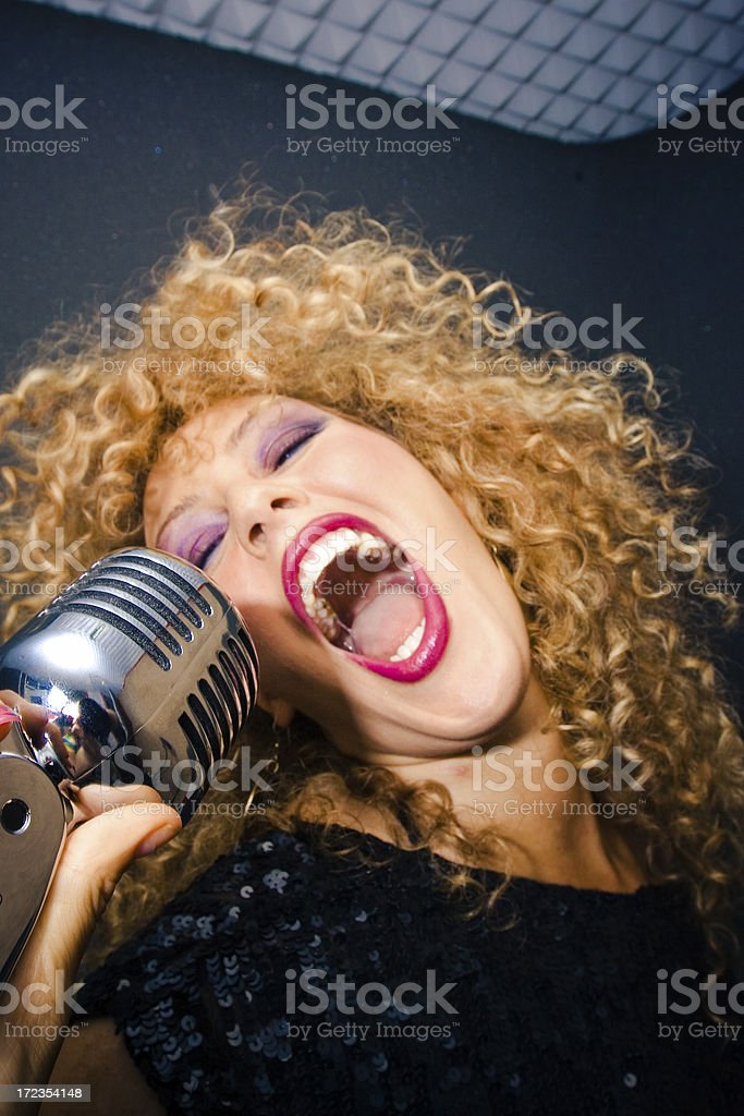 Expressive singer royalty-free stock photo