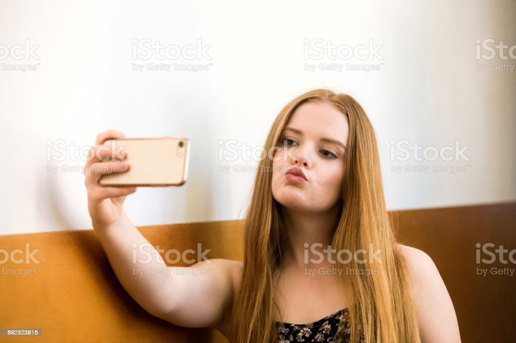 Expressive Woman stock photo