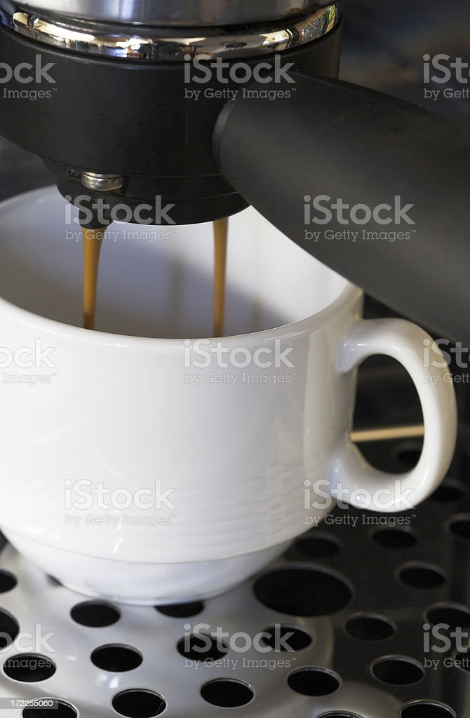 Expresso Making royalty-free stock photo