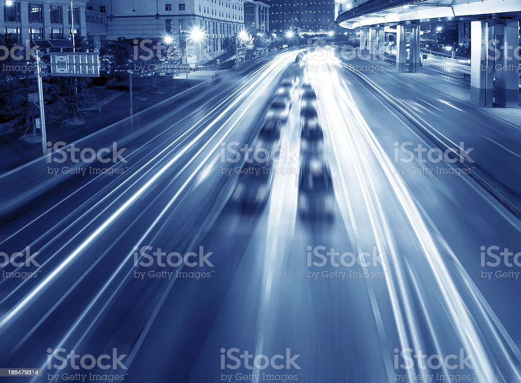 expressway at night time royalty-free stock photo