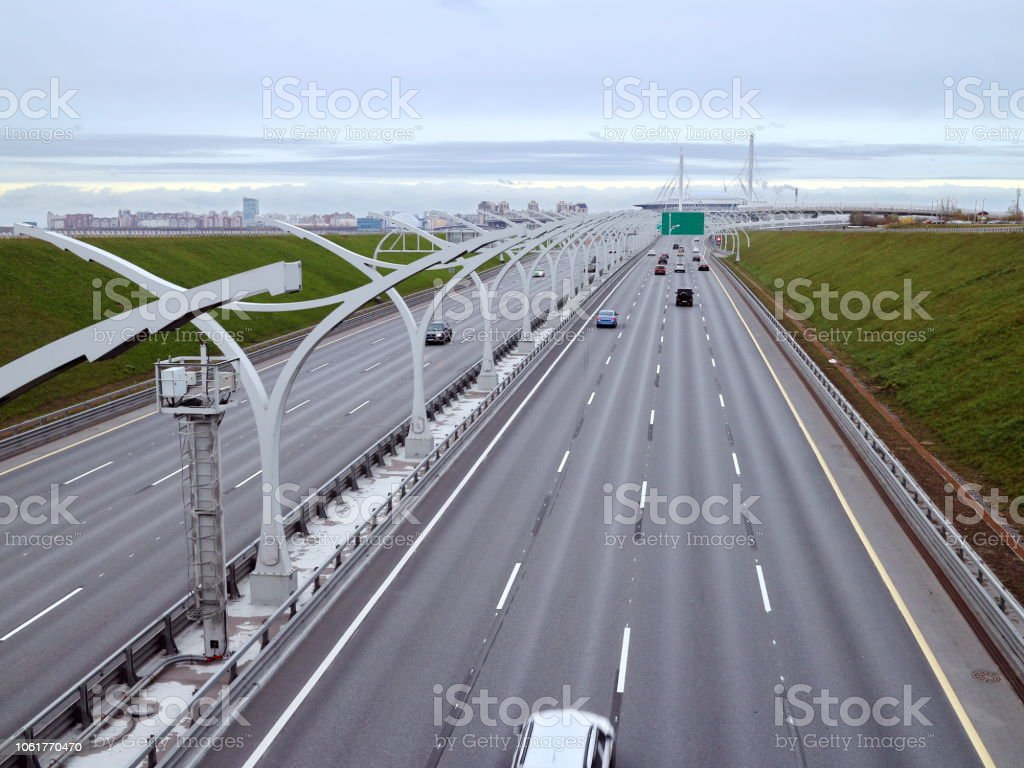 expressway at the edge of the city