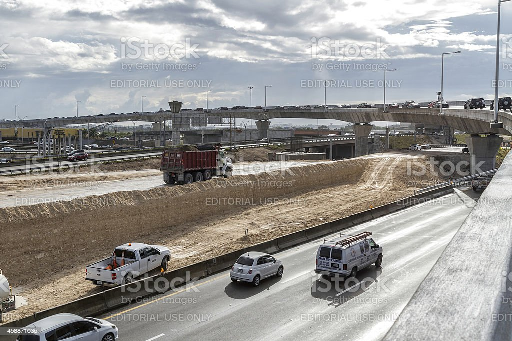 Expressway construction II royalty-free stock photo