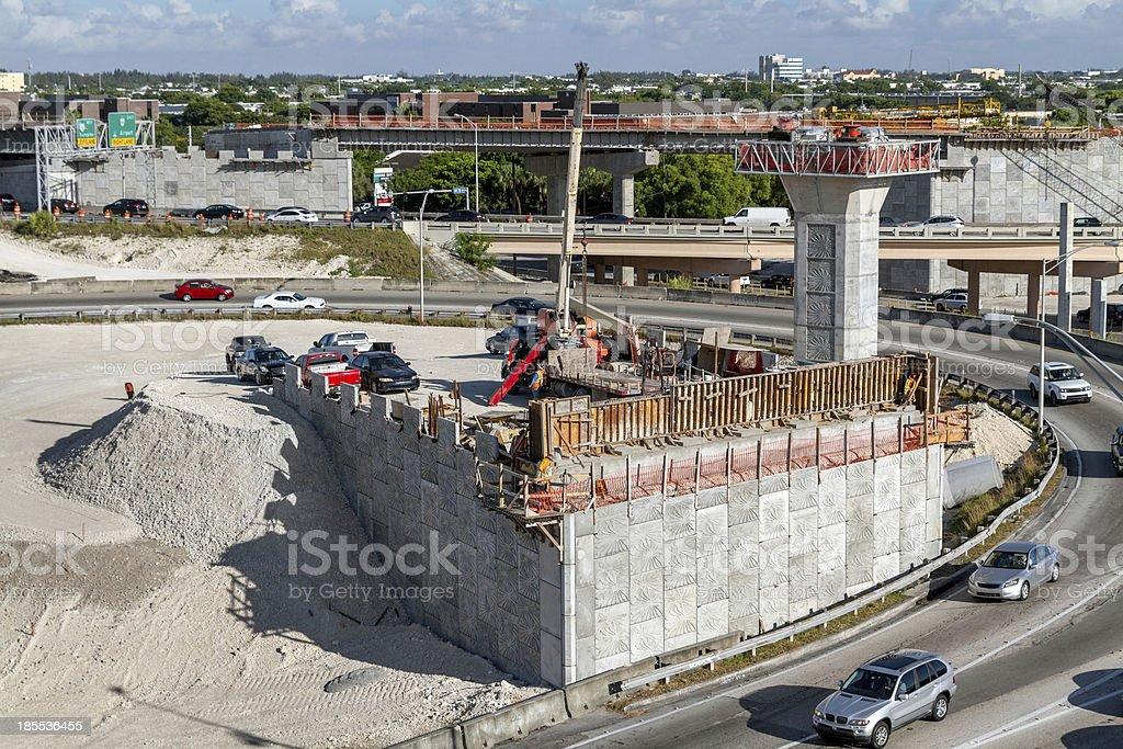 Expressway Construction in Miami royalty-free stock photo