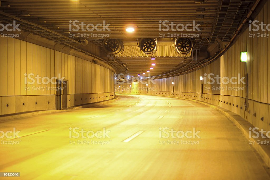 Expressway in a tunnel royalty-free stock photo