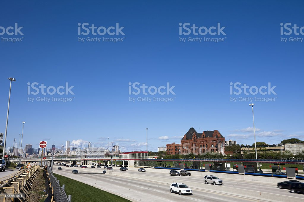 Expressway into Chicago royalty-free stock photo
