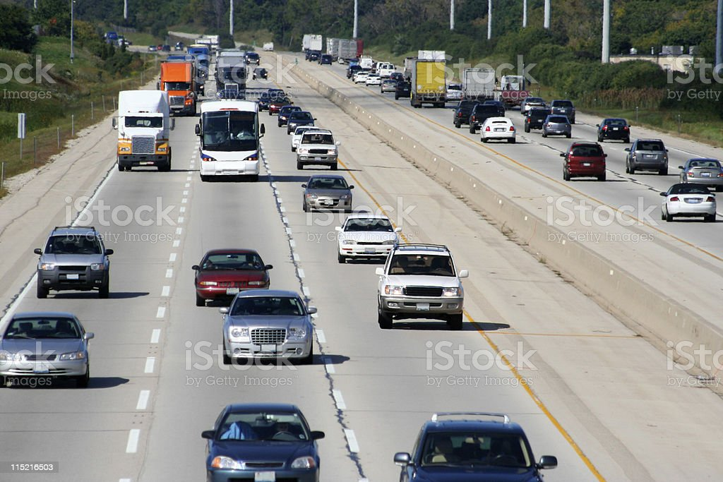 Expressway Traffic 2 stock photo