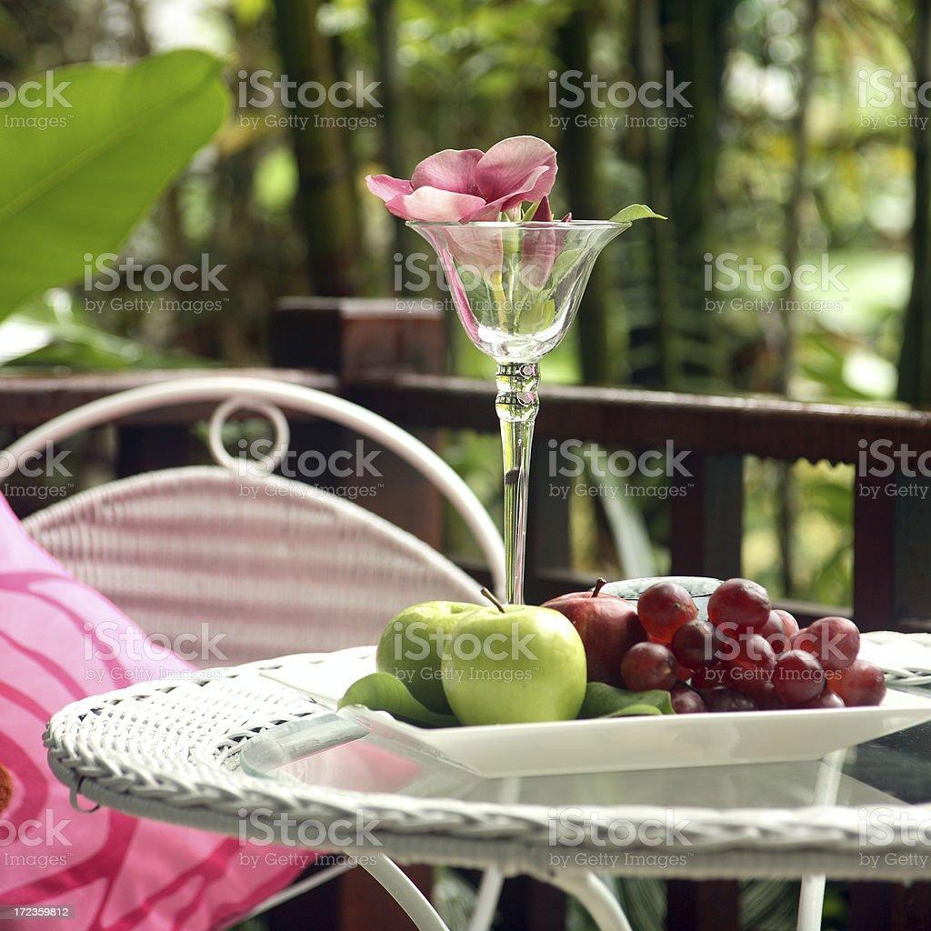 Exquisito plato de frutas foto de stock libre de derechos