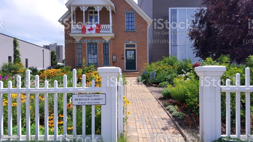 Exquisite Heritage Garden And Home Medicine Hat Alberta stock photo