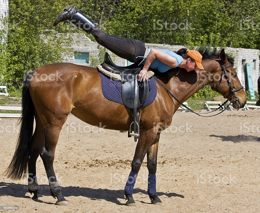 Exsecise On The Horse 3 royalty-free stock photo