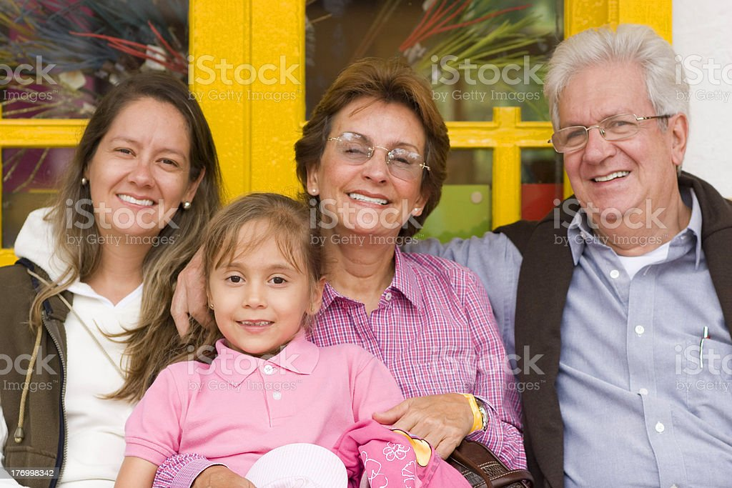 Extended Family Group Outdoors royalty-free stock photo