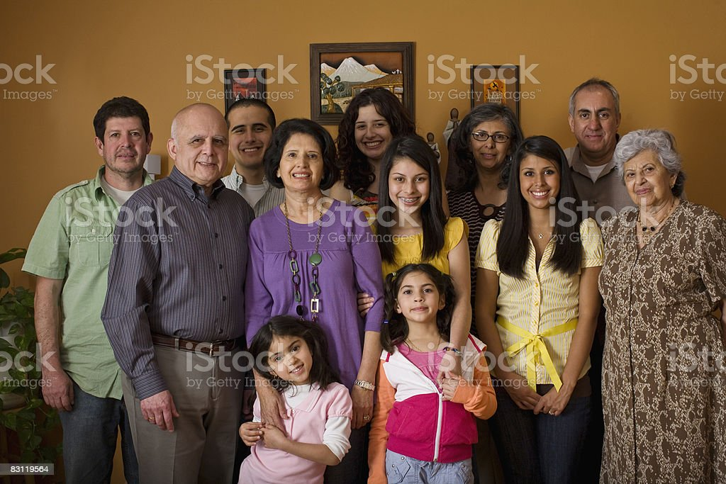 extended family portrait royalty-free stock photo