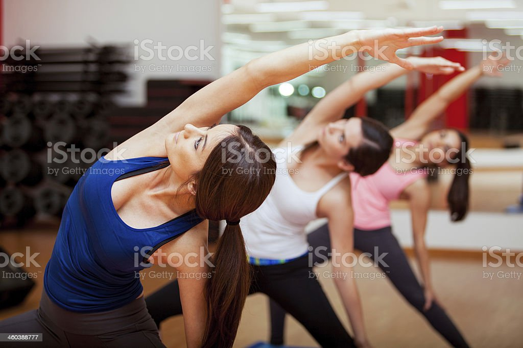 Extended Side Angle Yoga Pose stock photo