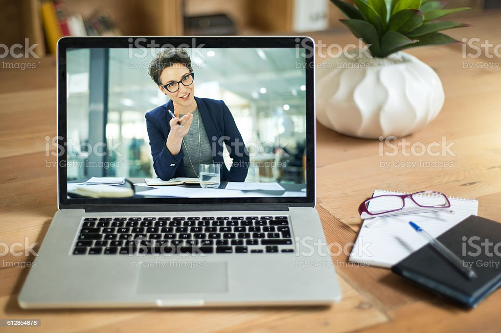 Extending an important message via the web stock photo