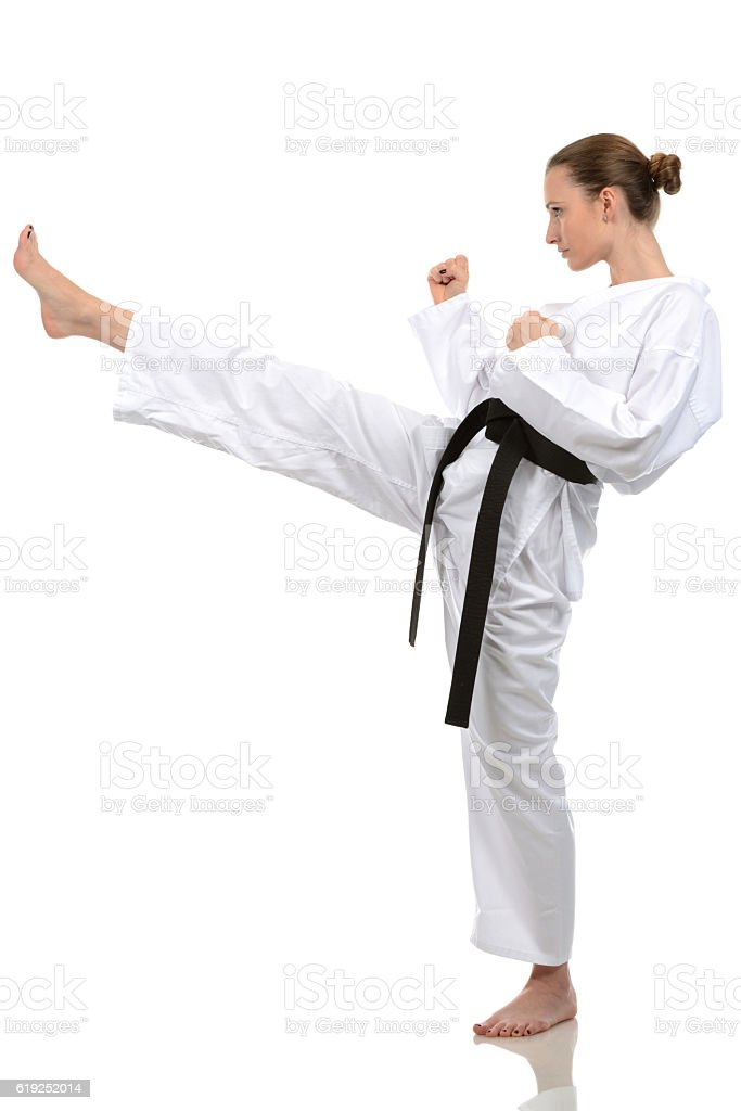Extending Front Kick stock photo