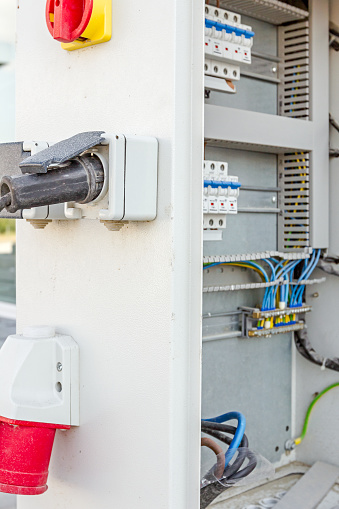 Extension Cord Is Plugged In The Socket Of Fuse Box Stock Photo - Download  Image Now - iStockiStock