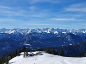 istock Extensive mountainrange in the winter 1294931461