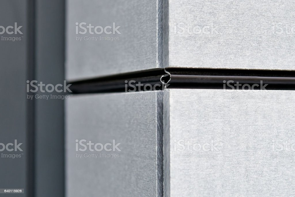 Exterior Cladding Of The Residential Building Stock Photo - Download
