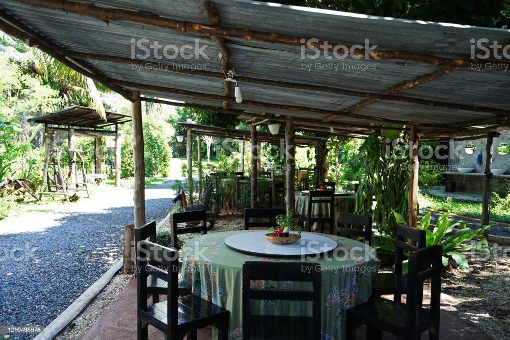 Exterior Design And Restaurant Decoration Of Outdoor Dining Seats Stock Photo Download Image Now Istock