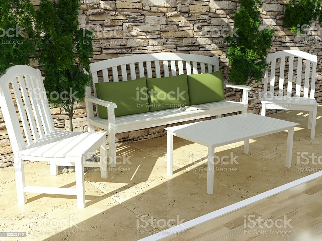 Diseño Exterior Abierto Terraza Foto De Stock Y Más Banco De