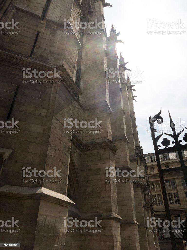 Exterior facade of Sainte Chapelle, Paris, France on the Ile de la...